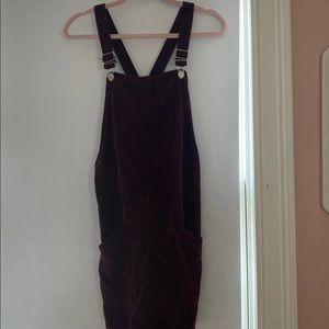 Top shop corridor burgundy/maroon dress